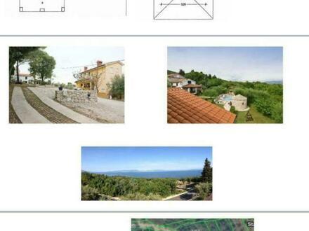 Komplette Grundstück 2901 m², mit Häuser und Pool in Labin