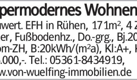 Neuwert. EFH in Rühen, 171m², 4 Zi, 2 Bäder, Fußbodenhz., Do.-grg., Bj.2018,...