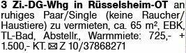 3-Zimmer Mietwohnung in Rüsselsheim (65428)