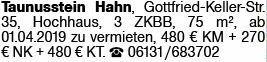 3-Zimmer Mietwohnung in Taunusstein Hahn (65232)