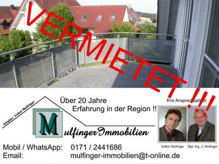 4 Zi. Wohnung in DG / Galerie mit zwei Balkonen und Garage in 96178 Pommersfelden OT