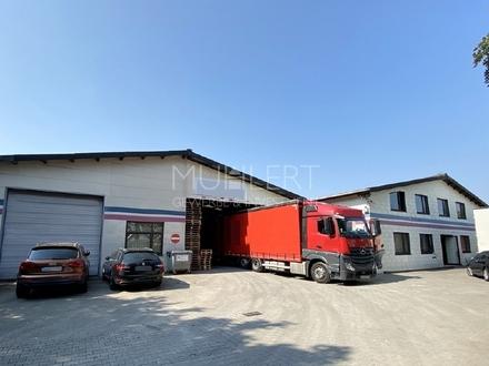 Erstklassiges Gewerbeanwesen mit 2 Hallen, Büro und großem Freigelände