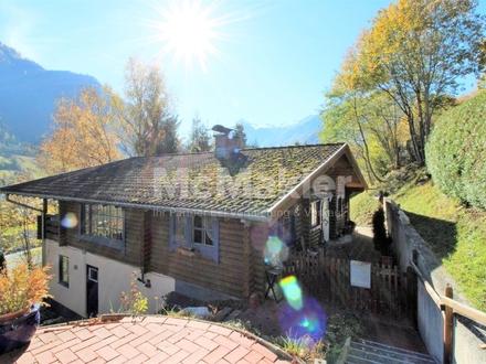 Unverbaubarer Ausblick auf das Kitzsteinhorn! Gemütliches Blockhaus mit Terrasse, Loggia und Sauna