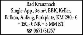 Wohnen in Bad Kreuznach (55543)