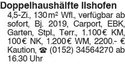 Doppelhaushälfte Ilshofen