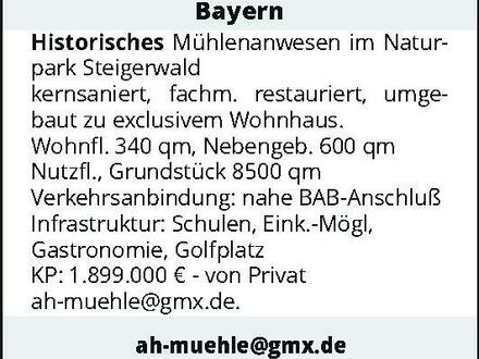 Bayern – Historisches Mühlenanwesen im Naturpark Steigerwald