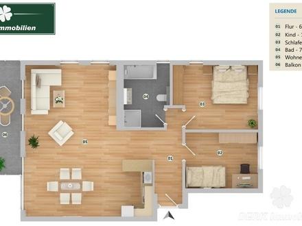 BERK Immobilien - Exklusive 3-Zi. ETW mit großem Balkon in Babenhausen-OT - direkt vom Bauträger!