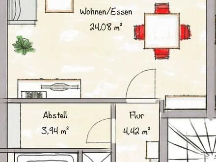 NEUBAU ! 2-Zimmerwohnung im Dachgeschoss mit schönem Balkon