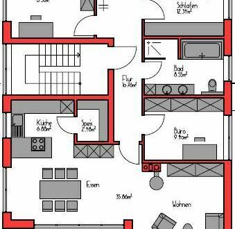 4 Zimmer Wohnung in Leingarten