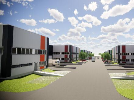 Ca. 10.500 m² Neubau Gewerbeflächen im Gewerbepark direkt an der Auffahrt A33