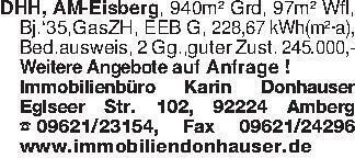 DHH, AM-Eisberg, 940m² Grd, 97...