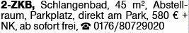 2-Zimmer Mietwohnung in Schlangenbad (65388)