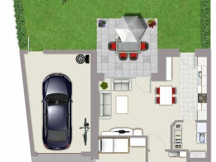 Helle 3-Zimmerwohnung mit Garten und Garage zu verkaufen