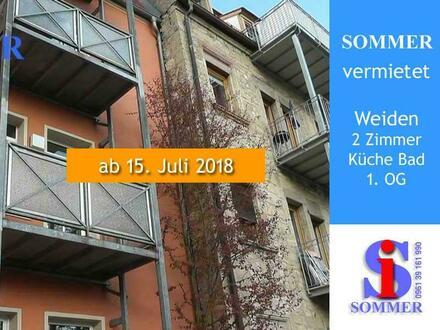 Weiden Opf - zentrumsnahe 2 Zimmer Wohnung mit Balkon mieten