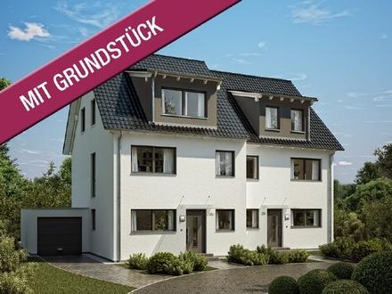 Wohnglück im Doppelhaus auf 151 m² und Keller mit Garage (inkl. Grundstück & KfW 55)