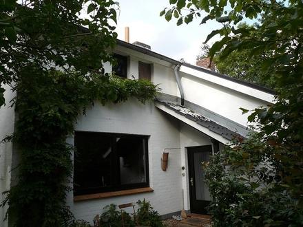 Einfamilienhaus mit Ateliergebäude auf großem, schön eingewachsenen Grundstück zu verkaufen