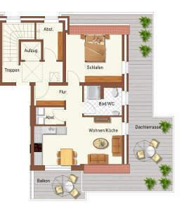 Luxus-Architekten-Penthouse-Wohnung ** mit riesiger Dachterrasse ** Fahrstuhl ** einmalige Gelegenheit ** DG rechts