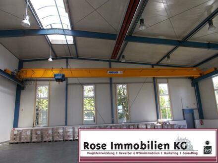 ROSE IMMOBILIEN KG: 10 t Kran - DH 7,80m - großes Rolltor - Industriegebiet Kirchlengern!