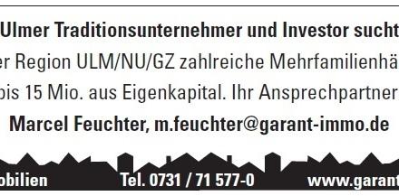 Ulmer Traditionsunternehmer und Investor sucht