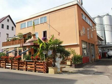 Gutgehende Brauereigaststätte mit Biergarten in Top Lage