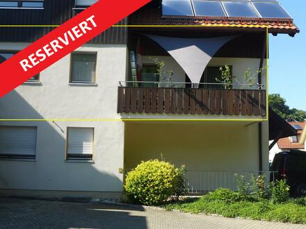 Helle, ruhig gelegene 2 Zimmer-Wohnung mit 2 Balkone am Stadtrand von Wangen im Allgäu