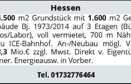 Hessen 4.500 m² Grundstück