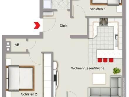 Eigentumswohnung in Straubing mit guter Verkehrsanbindung und Gartenanteil!