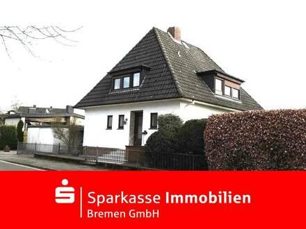 Gepflegtes freistehendes Zweifamilenhaus mit Sonnengrundstück in Bremen-Huchting