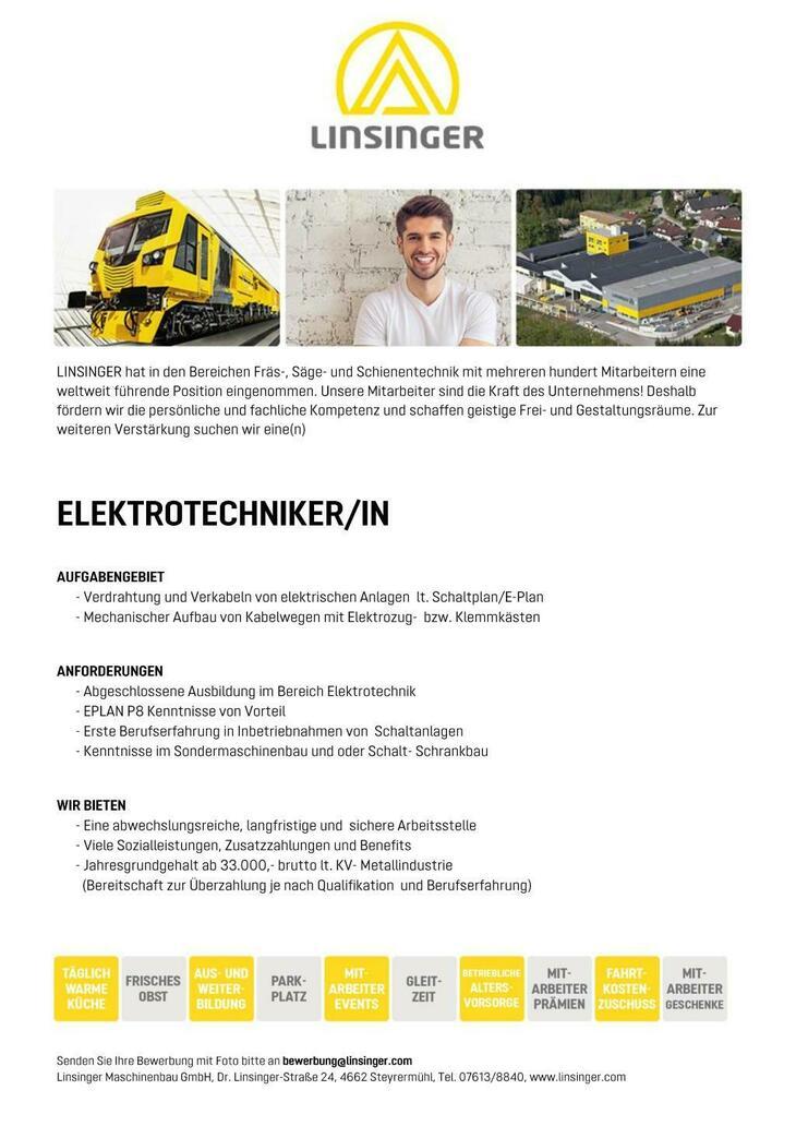 - Verdrahtung und Verkabeln von elektrischen Anlagen lt. Schaltplan/E-Plan - Mechanischer Aufbau von Kabelwegen mit Elektrozug- bzw. Klemmkästen