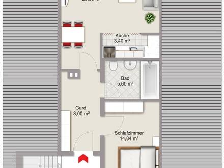 2-Zimmer-Dachgeschosswohung in Kastl