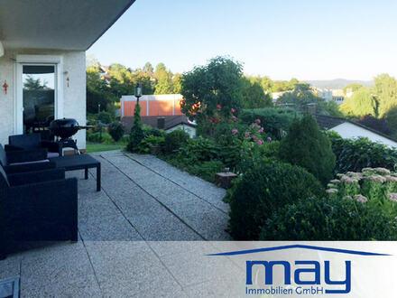 3-Zimmer-Wohnung + ELW mit EBK, großer Sonnenterrasse, Garten und Traumblick
