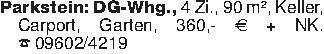Parkstein: DG-Whg., 4 Zi., 90...