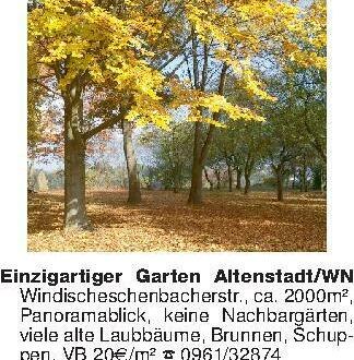 Einzigartiger Garten Altenstad...