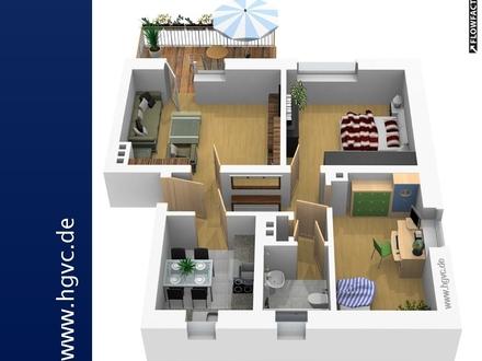 MEGA 3 Zi., Stadtnah, Grün, EBK + 10 m² - MEGA SÜD - Balkon !