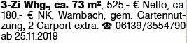 3-Zimmer Mietwohnung in Wambach (65388)