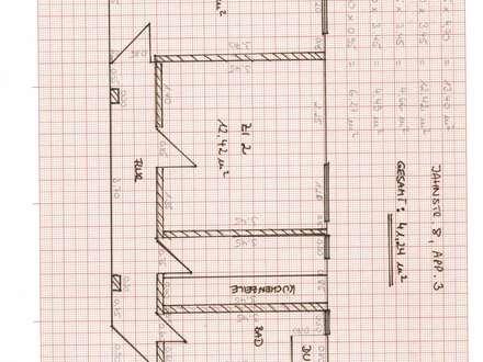 Ruhige 2-Zimmer-Wohnung, WG-geeignet, ca. 42,51 m² in der Passauer Innstadt