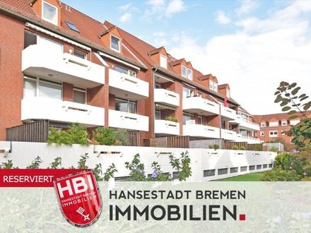 Findorff / Anlage / Gepflegte 2-Zimmer-Wohnung mit großer Südterrasse und PKW-Stellplatz