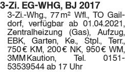 3 Zi. EG WHG, BJ 2017