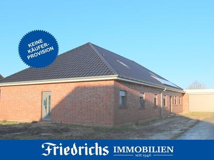 *Keine Käuferprovision!* Seniorengerechter Neubau-Bungalow mit Ausbaumöglichkeit in Augustfehn