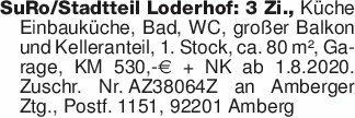 SuRo/Stadtteil Loderhof: 3 Zi....