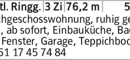 3-Zimmer Mietwohnung in Braunschweig (38118) 76m²