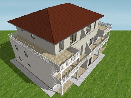 Kleine komfortable Penthouse-Wohnung in Husum