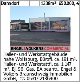 Danndorf 1338m² 650.000,-€ Hallen- und Werkstattgebäude nahe Wolfsburg,...