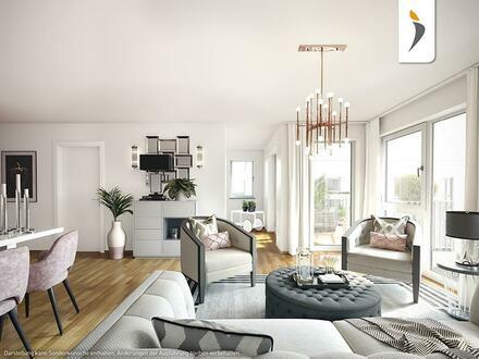 2 Zimmer mit schönem Westbalkon am Schlosspark: Gehobene Ausstattung und maximaler Neubaukomfort