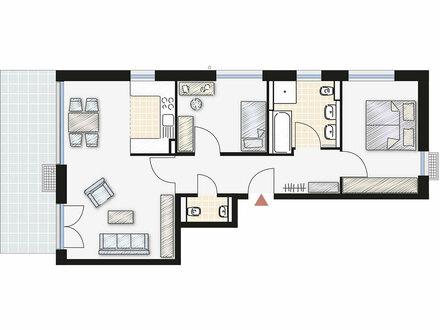 Schöne, helle 3-Zimmer-Wohnung mit Gartenanteil in Blaustein-Pfaffenhau