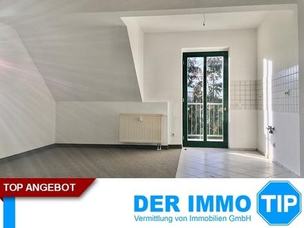 Dachgeschoss + offene Küche + Balkon + mieten in Chemnitz Kappel