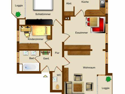 Velen: Schöne Obergeschosswohnung in zentraler Lage mit 2 Balkonen