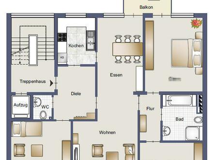 sehr gepflegte Mietwohnung mit Aufzug und Balkon in Geisweid - auch als Büro oder Arztpraxis nutzbar