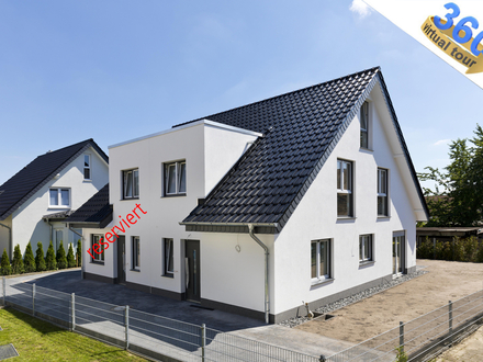 Familienglück Neubau Doppelhaushälfte