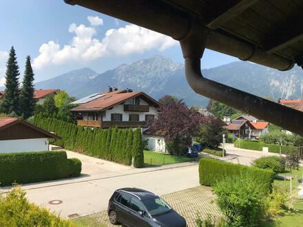 3 Zi-Whg.,Balkon mit Berg Blick in Bayerisch Gmain